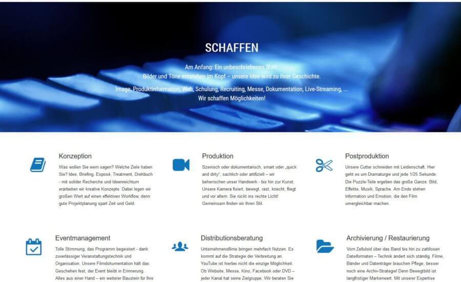 Filmproduktions-Website